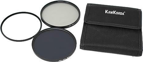 KamKorda - Kit de filtros de Lente 95 mm con Filtro UV, Filtro polarizador Circular, Densidad Neutra (NDX8) y Estuche de Almacenamiento: Amazon.es: Electrónica