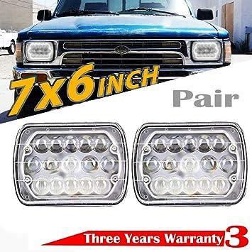 92 toyota pickup headlight wiring harness amazon com 7x6 5x7 inch led headlight for toyota pickup truck  5x7 inch led headlight