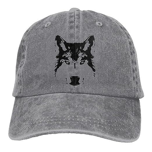 Amazon.com  jauefvbncla Black Wolf Head Unisex Hipster Adjustable Baseball  Cap Dad Hat  Clothing 5bae325da39
