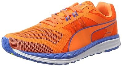 Puma Ignite 3 Pwrcool, Chaussures de Running Compétition Homme, Orange (Orange Clown Fish-French bleu 01), 44 EU
