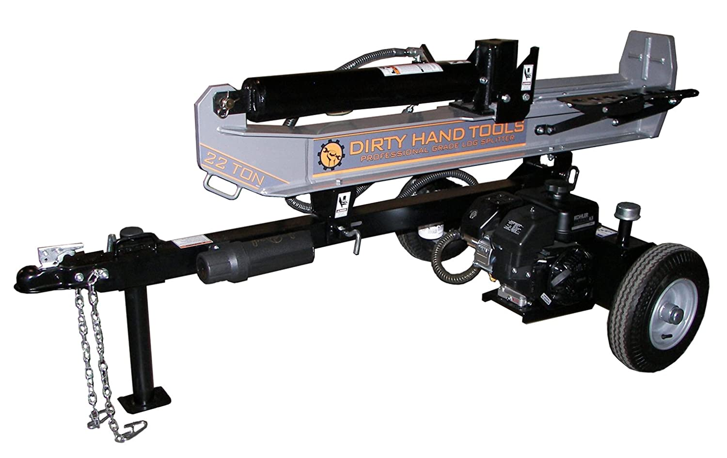 Dirty Hand Tools 100171, 22 Ton Horizontal/Vertical Gas Log Splitter, 196cc Kohler SH265 Engine