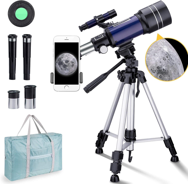 tr/épied BNISE T/élescope astronomique 70//300 avec sac de transport adaptateur pour t/él/éphone
