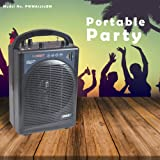 Pyle Portable Outdoor PA Speaker Amplifier System & Microphone Set with Bluetooth Wireless Streaming, Rechargeable Battery - Works with Mobile Phone, Tablet, PC, Laptop, MP3 Player - PWMA1216BM