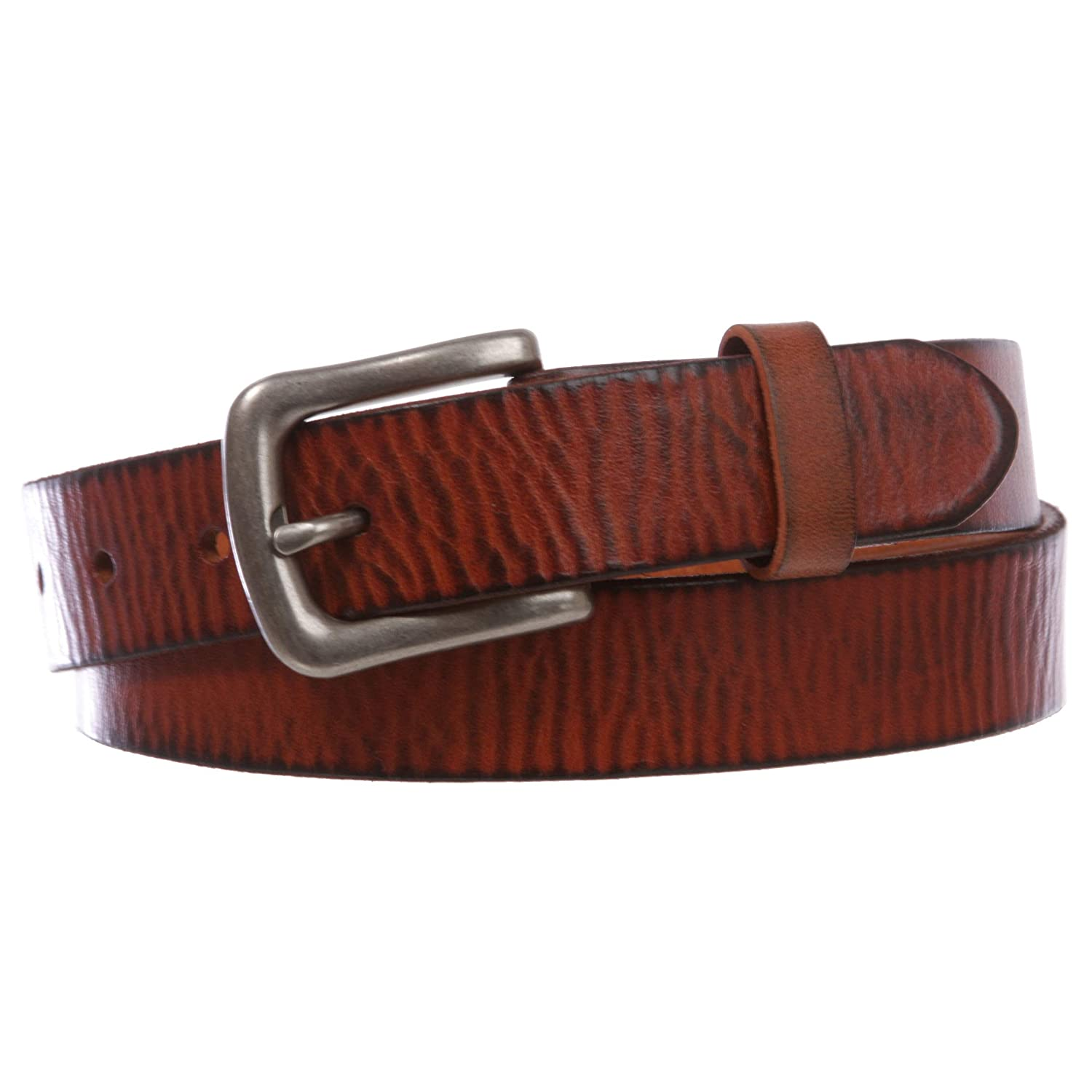 Kids Snap On Top Grain Vintage Genuine Leather Belt, Tan | 30 Inch beltiscool 3706K:011F:A007
