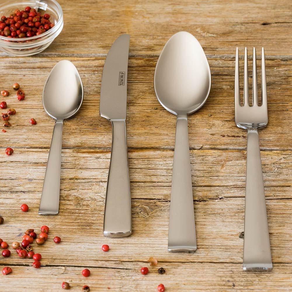 Amazon.com: Monix Mallorca Ménagère en acier inoxydable 18/c 24 pièces: Home & Kitchen