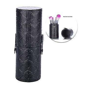 Amazon Com Makeup Brush Cup Holder Pu Leather Make Up Cosmetics