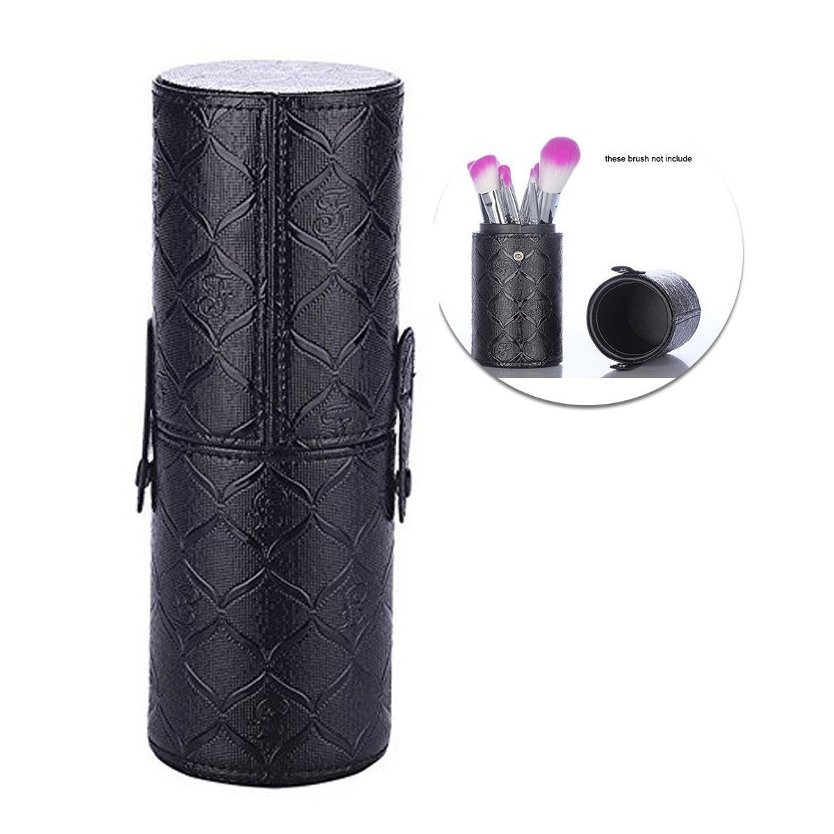 Amazon Com Makeup Brush Travel Case Holder Portable Pu Leather