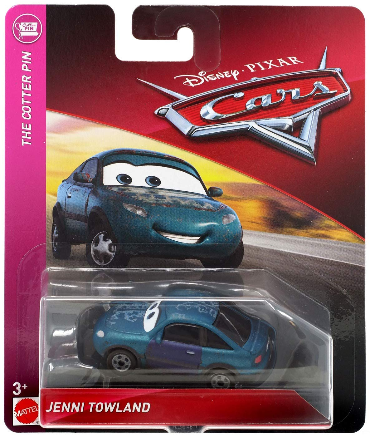 Disney Pixar Cars Die-Cast Cotter Pin Teal Sedan Vehicle