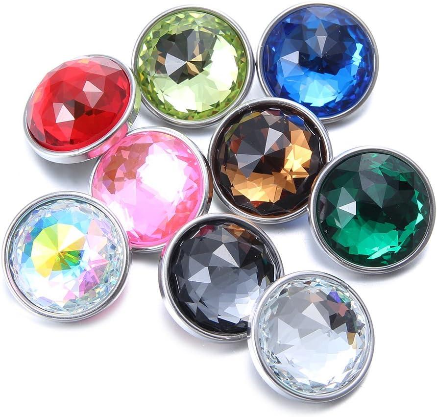 Soleebee 9/Unidades 60/DE Cristal aristado Click Button Fit 5.5/mm de Ojal Joyas Colgantes