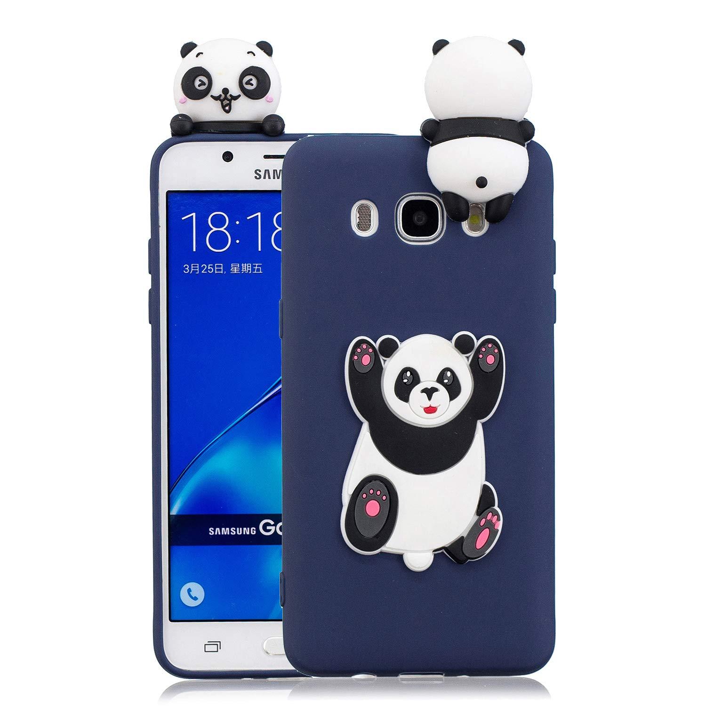 J510 Pi/ña Silicona Dibujo 3D Divertidas Panda Animal Carcasa TPU Ultrafina Case Slim Case Antigolpes Caso Protecci/ón Flexible Cover Design Gracioso HopMore Funda para Samsung Galaxy J5 2016