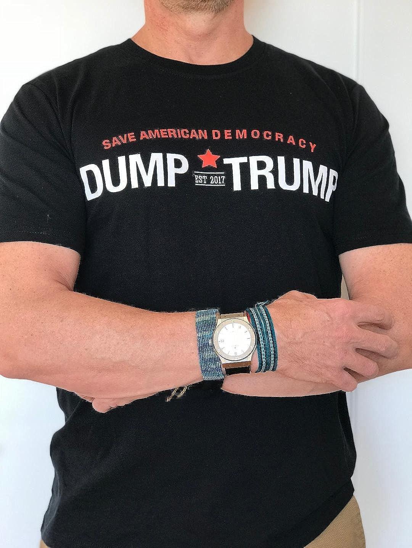 eb2d6b7b25a Amazon.com  Dump Trump Tee Shirt Black  Clothing