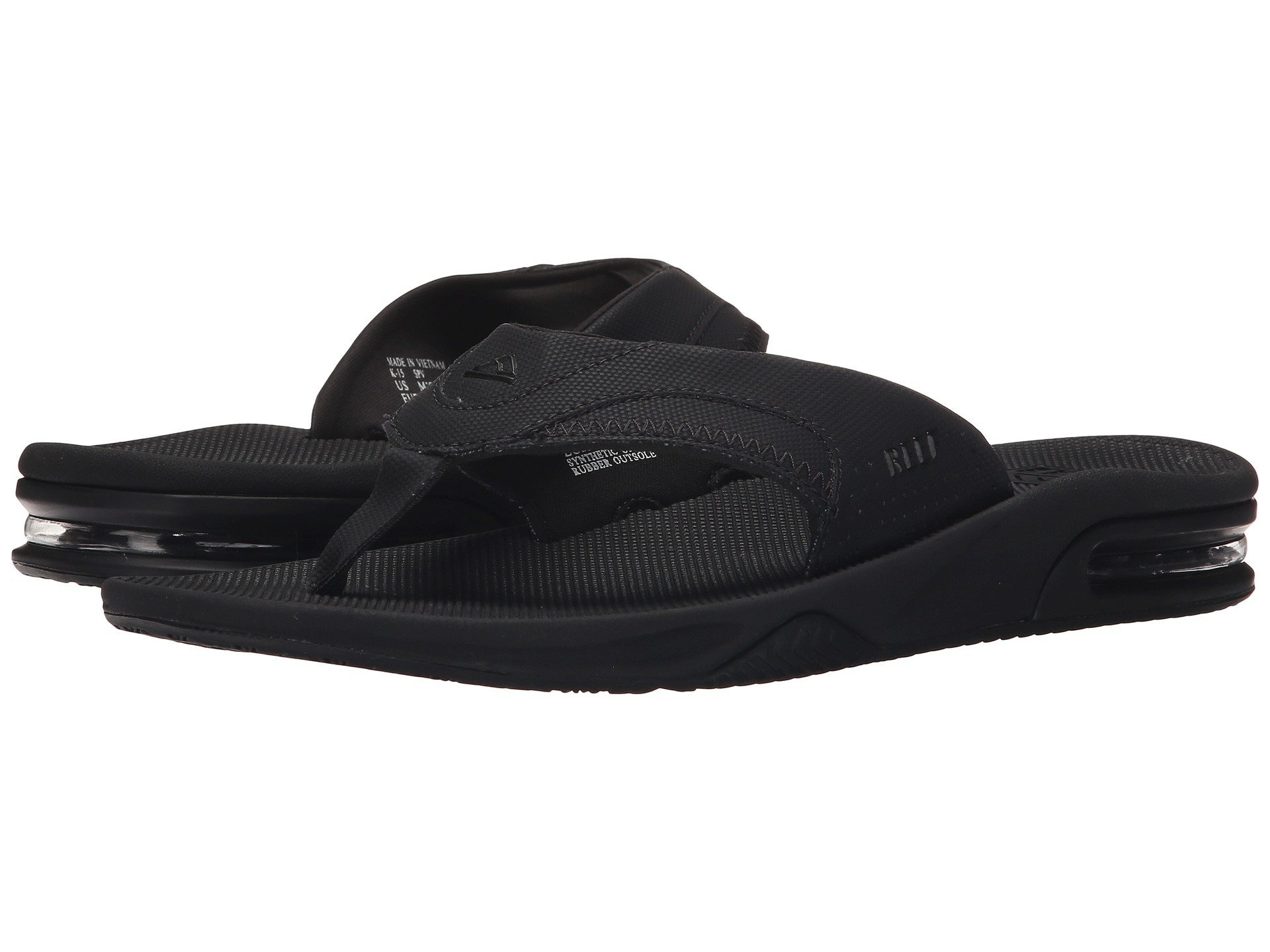 Reef Men's Fanning Sandal Black Size 7