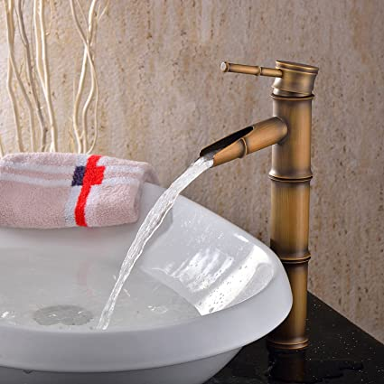 Lightinthebox Single Handle Deck Mount Bathroom Bamboo Vessel Sink ...
