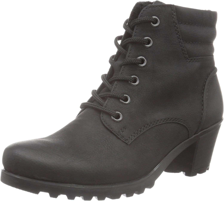 Rieker Damen Y8023 Kurzschaft Stiefel, Schwarz (schwarz 01 O7qog