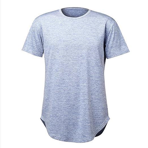 39eb1fc8 Althlemon Mens Hipster Hip Hop T Shirts Longline Elong Length Curved Bottom Streetwear  Shirt Tee Cool