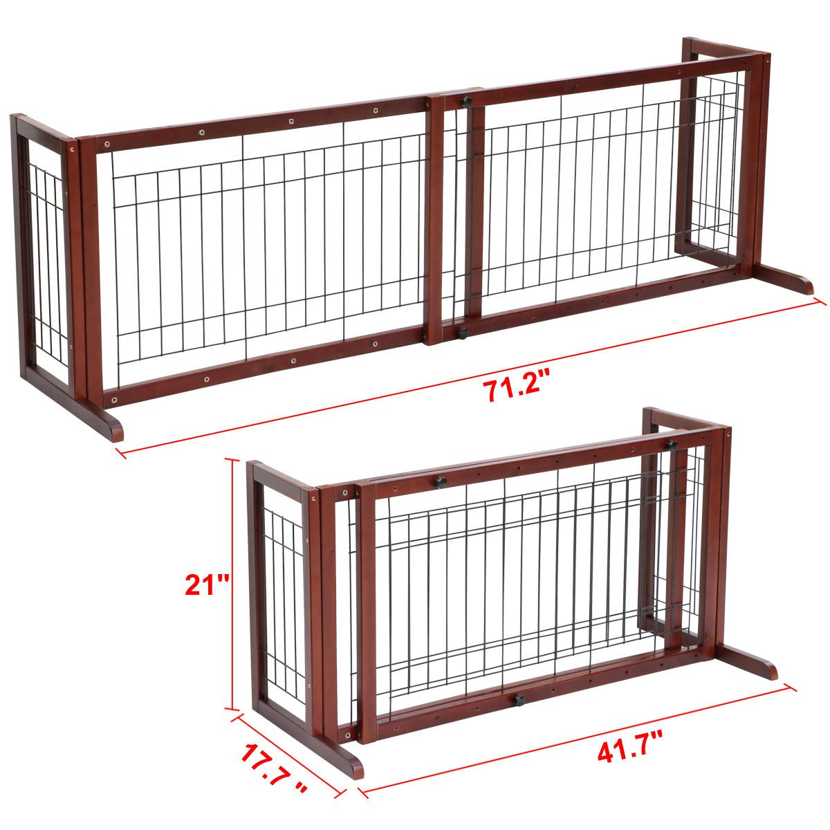 Tek Widget Adjustable Free Standing Indoor Dog Wood Gate/Fence by Tek Widget (Image #3)