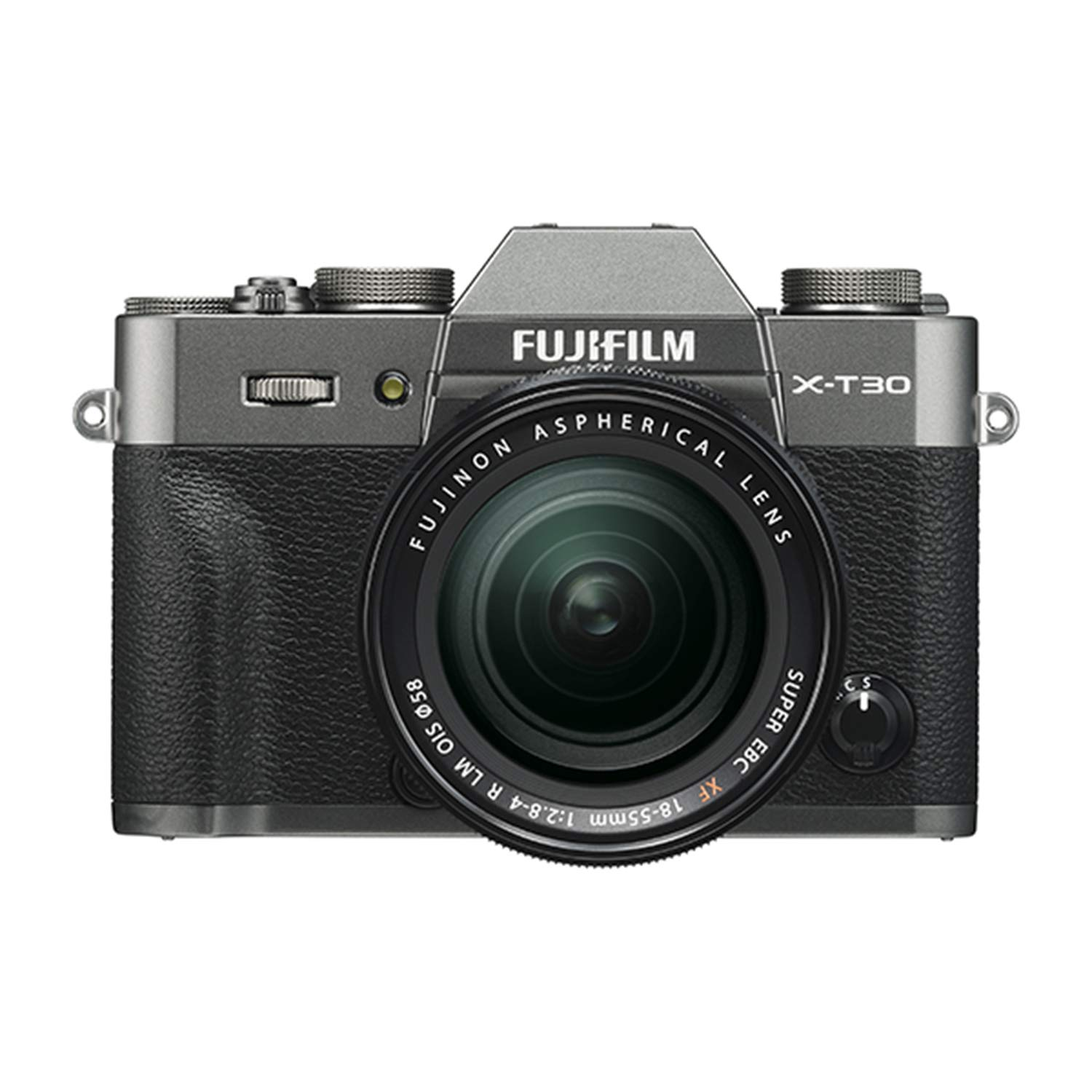 Fujifilm X-T30 Mirrorless Digital Camera w/XF18-55mm F2.8-4.0 R LM OIS Lens, Charcoal Silver