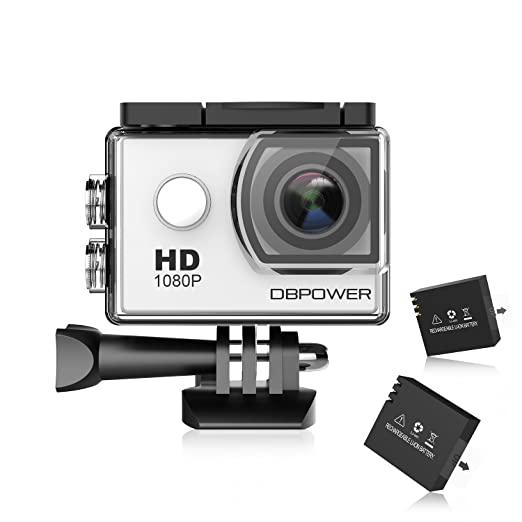 1354 opinioni per DBPOWER® Action Camera impermeabile 1080P HD 12MP KIT 2 Batterie ed