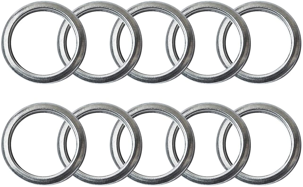 M16 Oil Drain Plug Gaskets Crush Washers Seals Rings Fits for Subaru Outback Legacy Impreza Forester BRZ XV Crosstrek, Replacement for the Part # 803916010, Used for Oil Change, 10 Pack