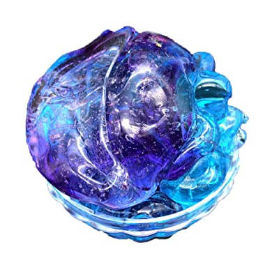 Coedfa Clay Toy, Beautiful Color Mixing Cloud Slime Squishy Putty Scented Stress Kids Crystal Clay Toy, Wonderful DIY Educational Creative Gift for Kids 60ml (Purple): Kitchen & Dining
