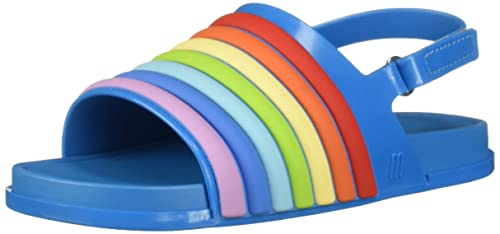 4a60742e059b Mini Melissa Kids  Mini Beach Slide Rainbow Flat Sandal  Amazon.co ...