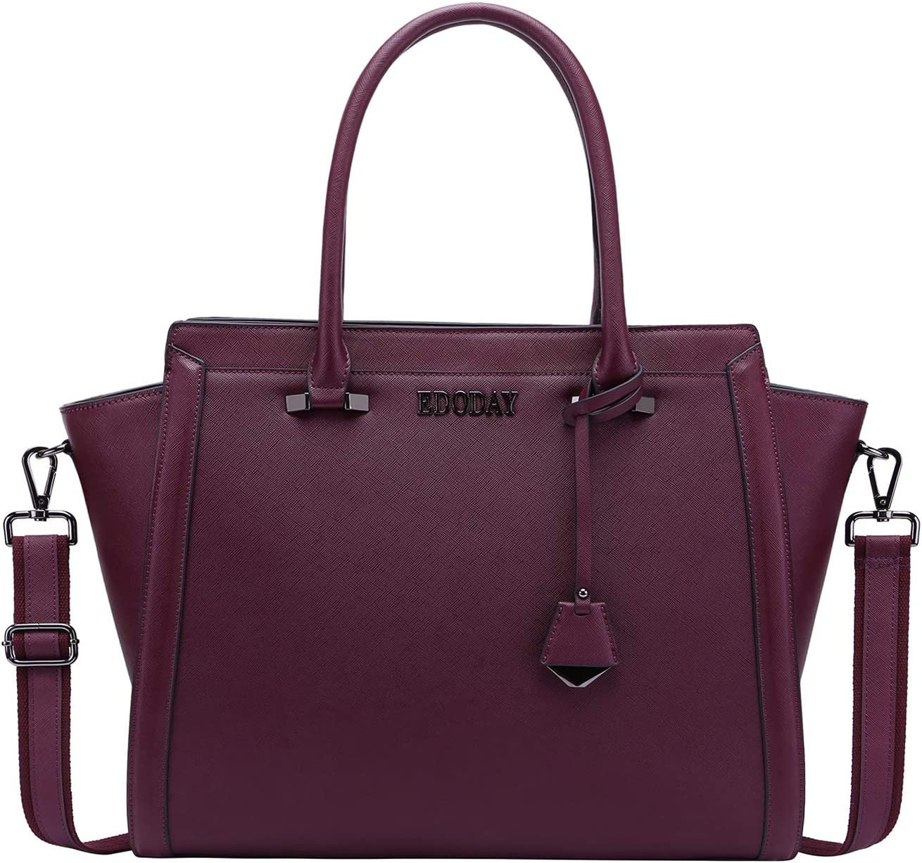 17 Inch Laptop Bag,Multi-Pocket Large Office Handbags Briefcase Briefcase Work Tote Bag,L0016 Darkpurple 17 Inch