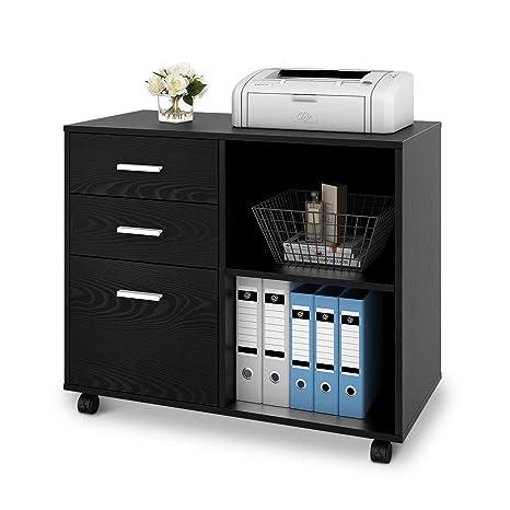 Amazon.com: DEVAISE archivador lateral, soporte de madera ...