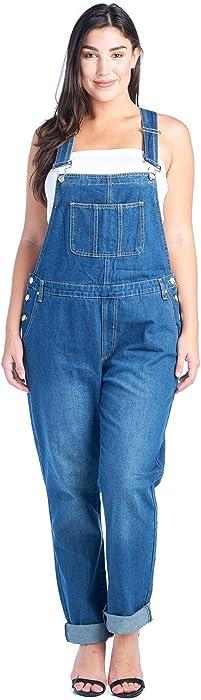 450e55130fc4 Amazon.com  TwiinSisters Women s Plus Size Basic Boyfriend Fit Denim ...