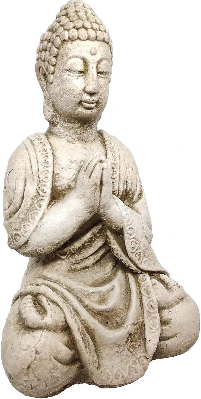 Cuir Dor Figura Buda 30 cm Piedra Artificial Ideal para Jardin ...