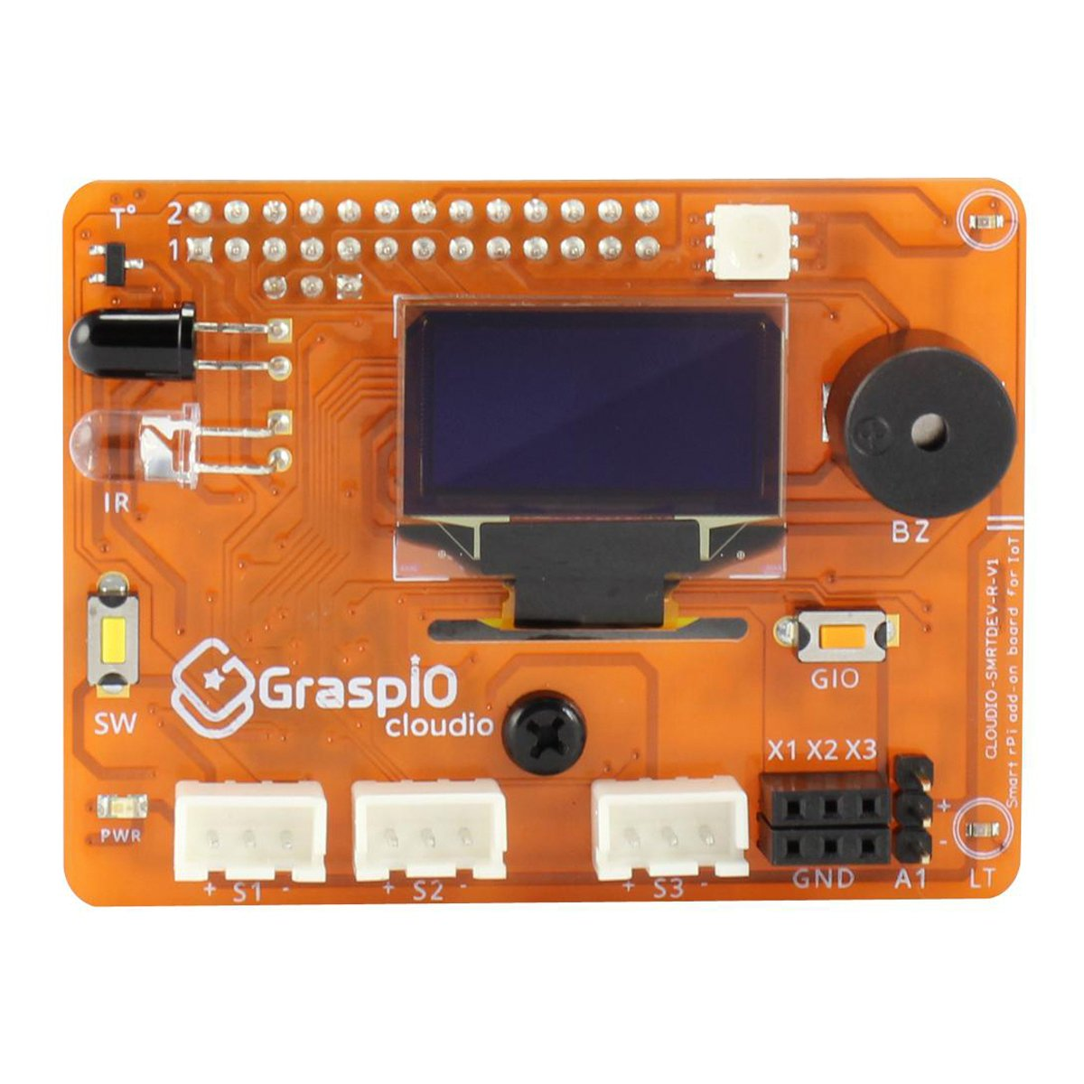 Cloudio-Add-On for Raspberry Pi Development and Prototyping