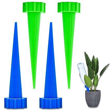 FEIGO Dispensador de Agua para Plantas de Interior Sistema de riego automático 4 Piezas Puntas de