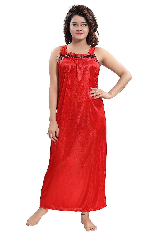 da14876a52c5 TUCUTE Women s 2pcs Nighty Nightdress Nightwear (Gown   Robe) Size   XL  (Red-2727