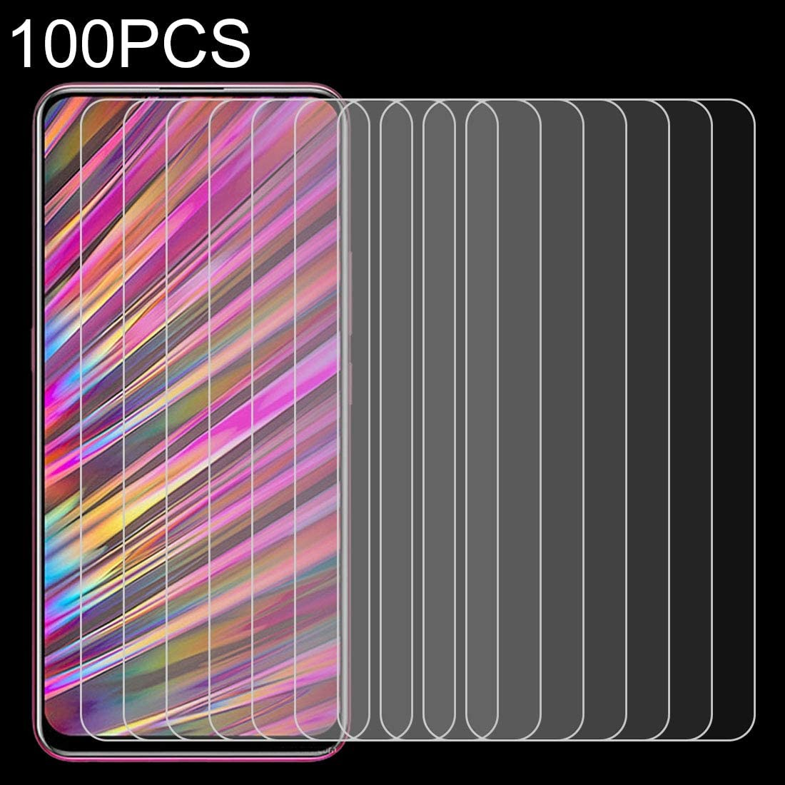 GzPuluz Glass Protector Film 100 PCS 0.26mm 9H 2.5D Tempered Glass Film for Vivo V15