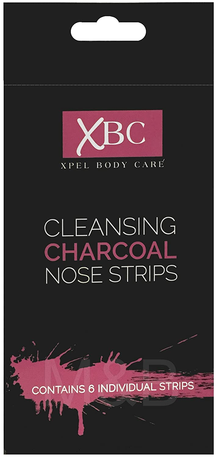 XBC Cleansing Charcoal Nose Strips (6 Pack) Xpel Blackhead Removal Patches