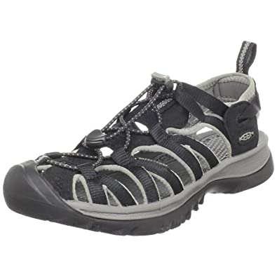 Keen Womens WHISPER Sandals Trekking & Hiking Shoes, black-gargoyle