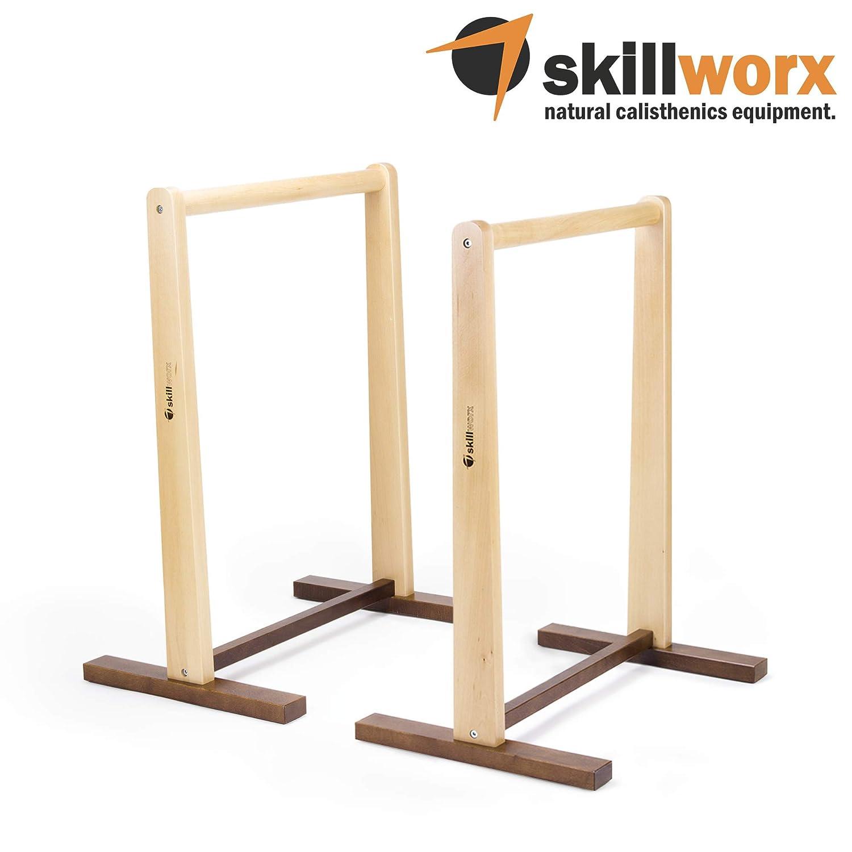 Skillworx Dip-Station: Dip Barren aus FSC-Holz für Calisthenics und Turntraining