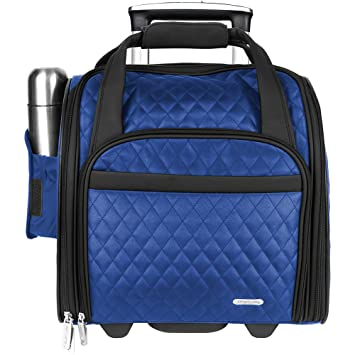 Travelon Wheeled Underseat Carry-On Bag 14 quot  Colors (Royal Blue 55c5ca0307428