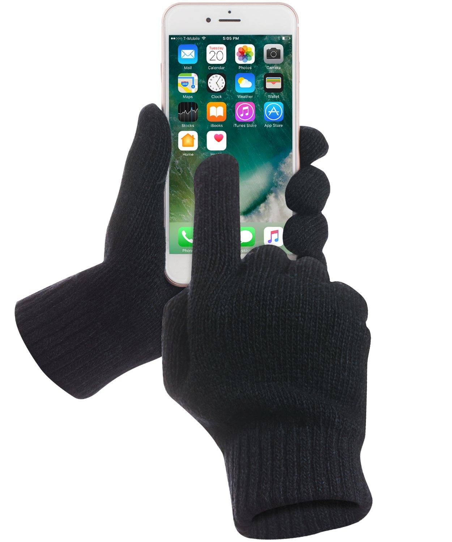 GreatShield Touchscreen Handschuhe, COZY [Alle Finger | Frauen und Männer | Herren und Damen] Unisex Winter Outdoor Warme Touch Gloves für Handy Display, Smartphones, Tablette Größe S/M (Grau/Rosa) hochwertig Tablets eReader Kiosk