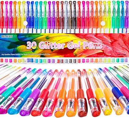 121 Glitter Gel Marker Pen Set for Crafts Scrapbook Bullet Journaling Kids Adult