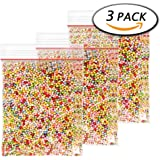 Paxcoo 3 Pack 45000 Pcs Micro Color Styrofoam Balls for Slime