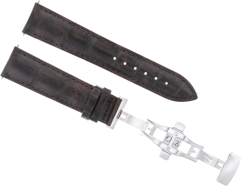 17 18 19 20 21 22 23 24 mmレザー腕時計バンドストラップClasp for Omega Seamaster 2b 21mm ダークブラウン