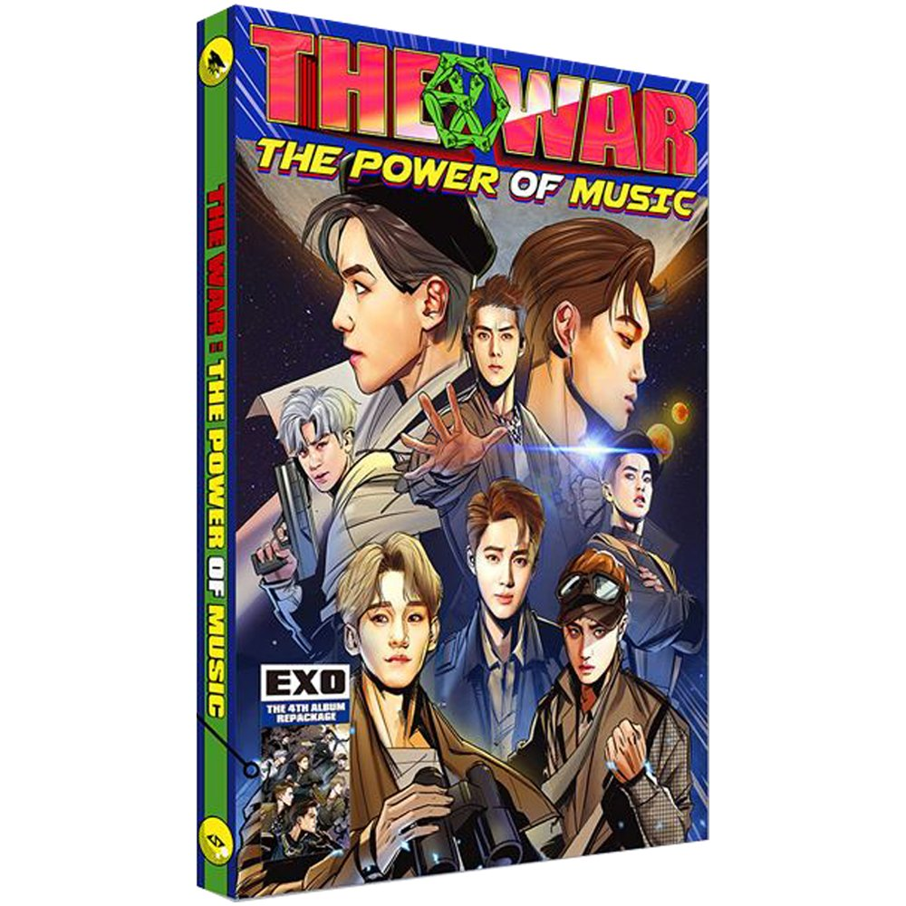 EXO 4th Repackage Korean Ver. [THE WAR The Power of Music] Album CD + Comic book + Photo card by SM Entertainment