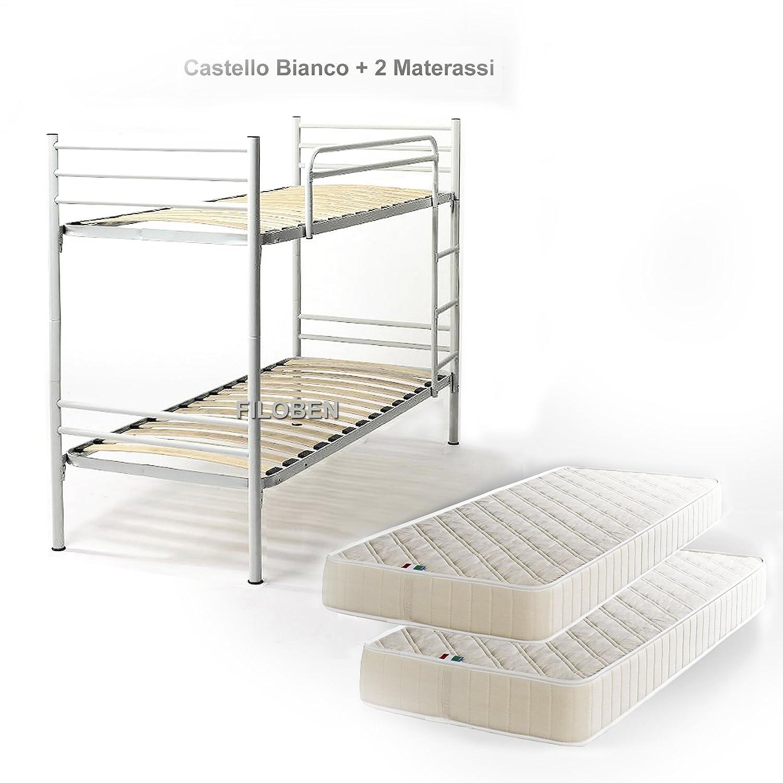 Materassi in rete interesting letto a castello bianco rete a doghe completo di materassi in - Letto completo di rete e materasso ...