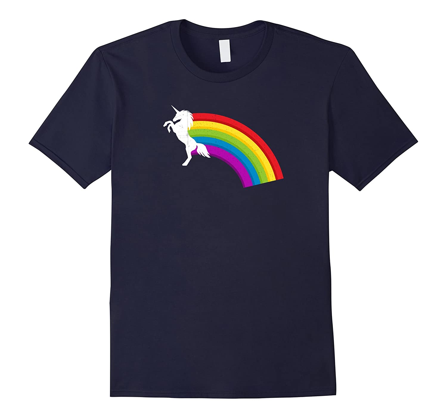Vintage Unicorn 80s Retro Humor Inspired Top Novelty T-Shirt-FL