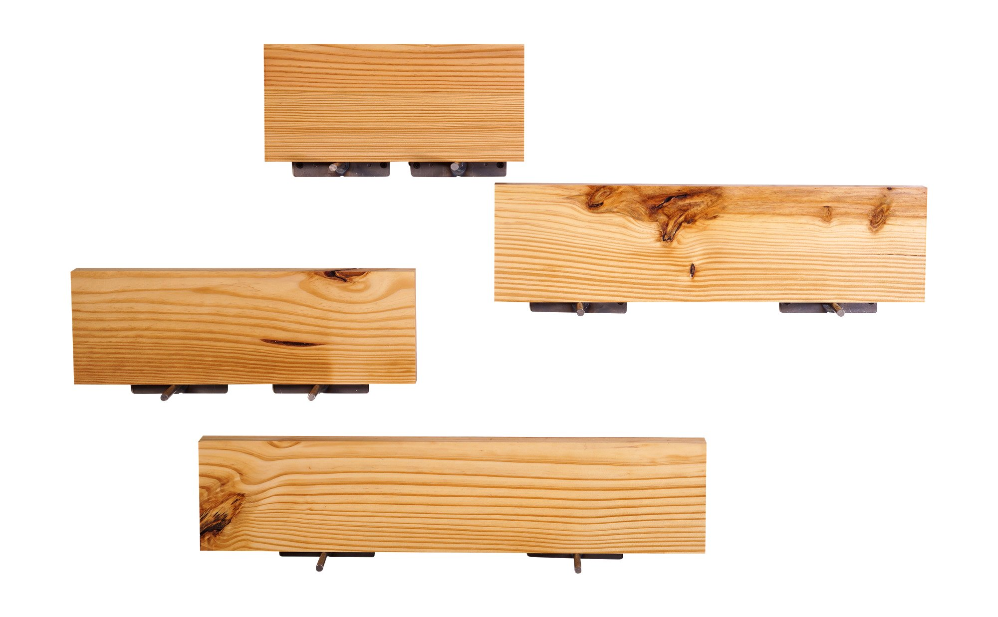 """DAKODA LOVE 5.25"""" Deep Clean Edge Floating Shelves, USA Handmade, Clear Coat Finish, 100% Countersunk Hidden Floating Shelf Brackets, Beautiful Grain Pine Wood Wall Decor (Set of 4) (Natural) - True floating shelves with squared edges. Sits flush against wall with 100% countersunk hidden brackets (includes all mounting hardware) Handcrafted with furniture grade dry kilned pine wood Hand wiped stain and clear coat finish - wall-shelves, living-room-furniture, living-room - 71X3DU2IG1L -"""