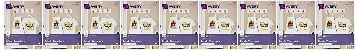Amazon Com Avery T Shirt Transfers For Inkjet Printers Light