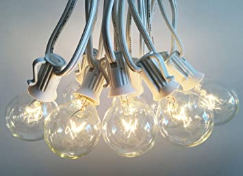 Elegant Outdoor Light String 100ft Globe Patio String Lights   100 Foot White Light  Strings W/
