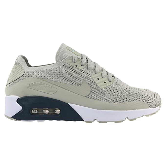 Nike Men's Air Max 90 Ultra 2.0 Flyknit Grey Textile
