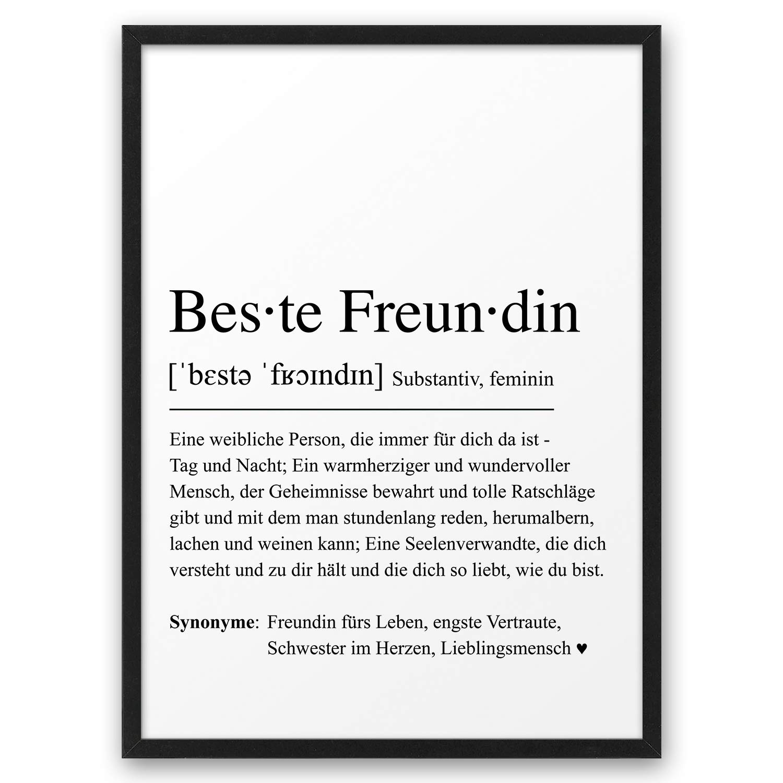 BESTE FREUNDIN Definition ABOUKI Kunstdruck Poster Bild