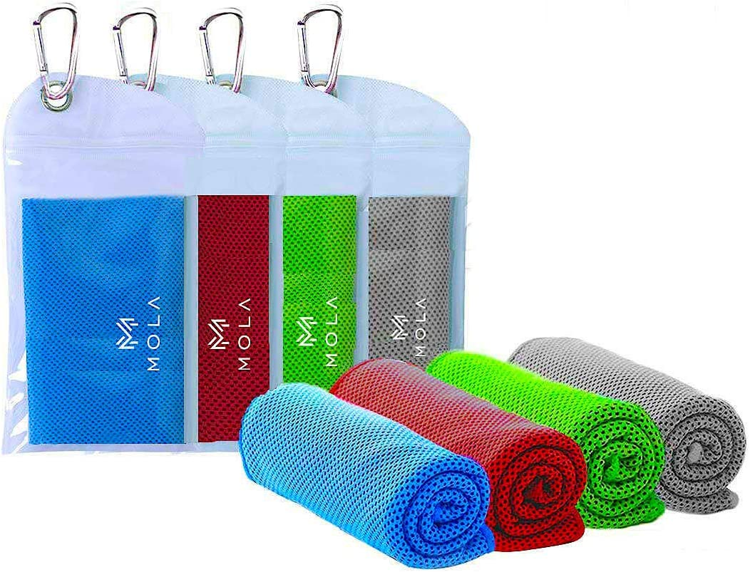 Ice Towel Instant Cooling Relief Fitness Pilates Towels Golf Bowling Gym MOLA Cooling Towel Cool Yoga Stay Cool Travel, Camping /& Outdoor Activities - Cooling Neck Headband Bandana